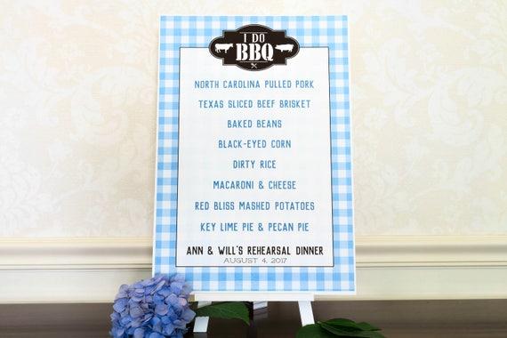 Backyard Bbq Wedding Menu printed bbq menu sign i do bbq decorations backyard | etsy