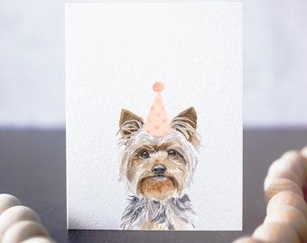 Silky Terrier card, card for silky dog or yorkie lover, yorkie birthday card, dog card