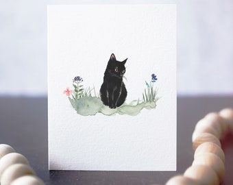 Black Cat Card - Any Occasion - Card for Cat Lovers - Gift for Cat Owner