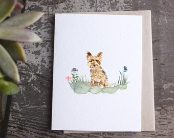 Yorkshire Terrier card, card for dog owner, dog card, yorkie valentine, pet sympathy card