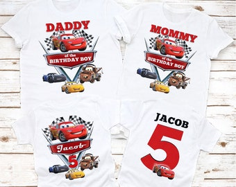 disney cars custom birthday shirt