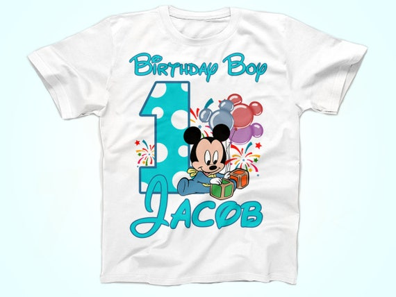 Mickey Birthday Shirt Baby Tshirt First