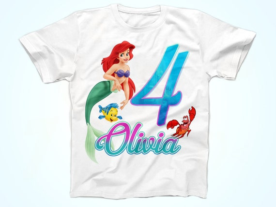 Little Mermaid Birthday Shirt Ariel