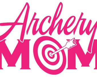 Archery Mom Vinyl Sticker - Window Decal or Bumper Sticker