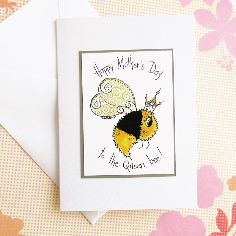 Mothers Day Cards Mom Birthday Card Blank Bee
