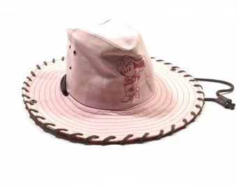 93c2f258684e7 Vintage MICKEY MOUSE Tokyo Disney Resort Paisley Cowboy Hats Sz (58 cm)