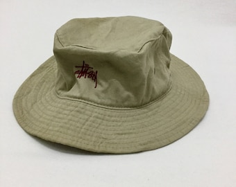 431f690b397 Vintage STUSSY HATS Skateboards Khakis Bucket Hats Sz Large   X-Large