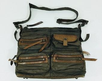 6b5144342b Y SACCS Yohji Yamamoto Nylon Messenger Sling Bag