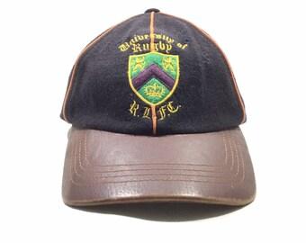 36b1c942d Vintage RALPH LAUREN RUGBY Leather Straps Cap
