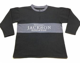 4c9a38ce Vintage MICHAEL JACKSON King Of Pop Bootleg Pullover Sweatshirt Sz X-Large