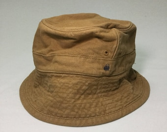 3db2eb30c43 Vintage R by 45RPM Hickory Stripes Secret Pocket Bucket Hat Sz 3 Made in  Japan