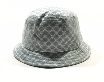 4979abc9f7dd0 Vintage CELINE PARIS MacAdam Bucket Hats Sz 54cm Made in Japan