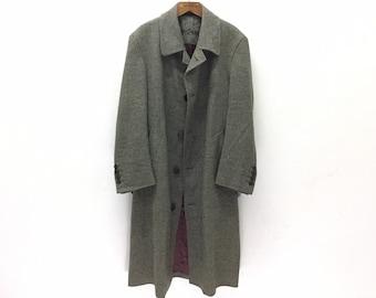 7e4b711a1bb YVES SAINT LAURENT Pour Homme Wool Designer Trench Coat Sz 46
