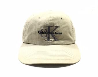 575716f4c5e Vintage 90  CALVIN KLEIN JEANS cK Logo Manhattan Snapback Cap