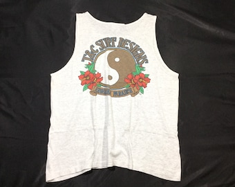 fe8c87d1 Vintage 80' T&C SURF DESIGN Surfing Tank Tops Sz X-Large Made in Usa