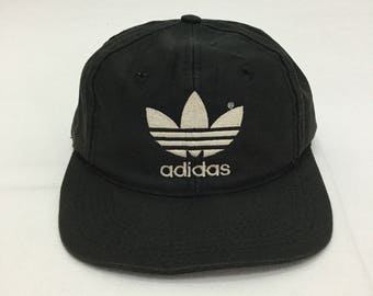2999d27e90b77 True Vintage ADIDAS Trefoil Embroidered Logo Baseball Cap One Size Fits All