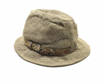 8f155417 ENGINEER GARMENTS Linen Trilby Hats Sz Large Made in USA