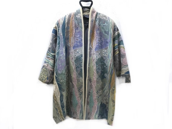 COOGI Multicolour Cardigan Sz Free Made in Austral