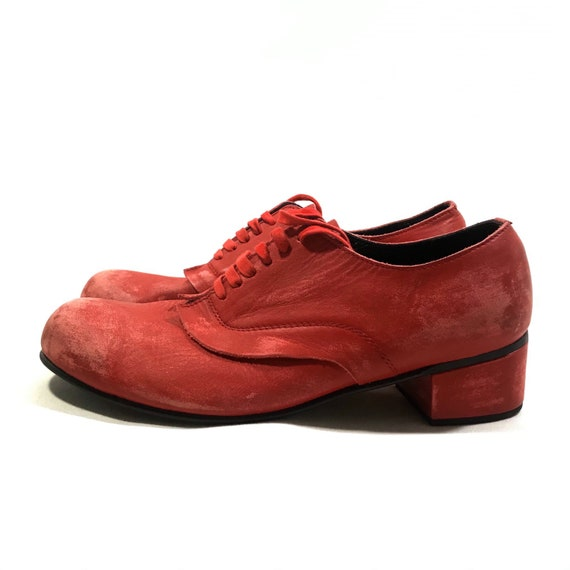 COMME des GARCONS Distressed Leather Shoes Made in