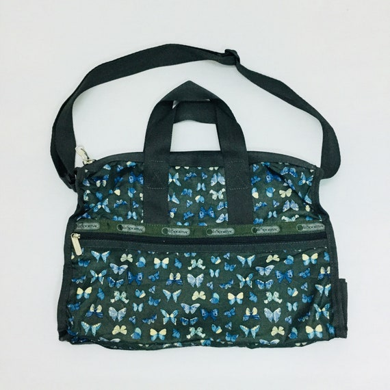f1624101d2 Vintage LESPORTSAC Butterfly Fancy Tote Bag Made in USA