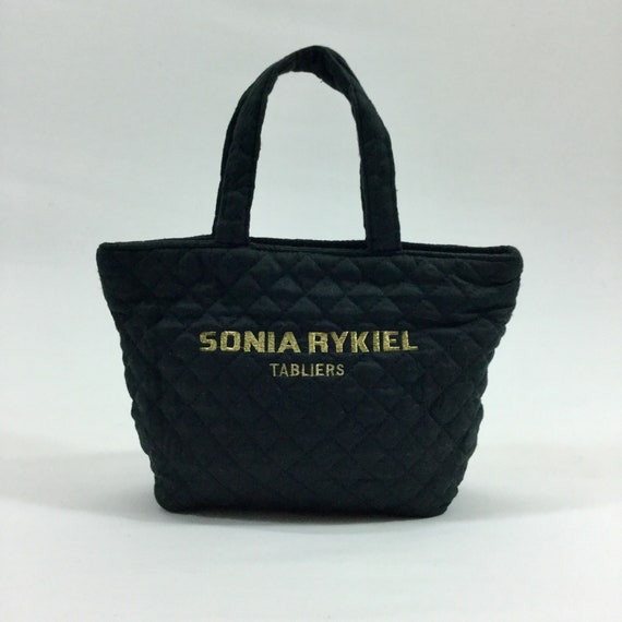 014b793772 Vintage SONIA RYKIEL TABLIERS Quilted Nylon Small Tote Bag