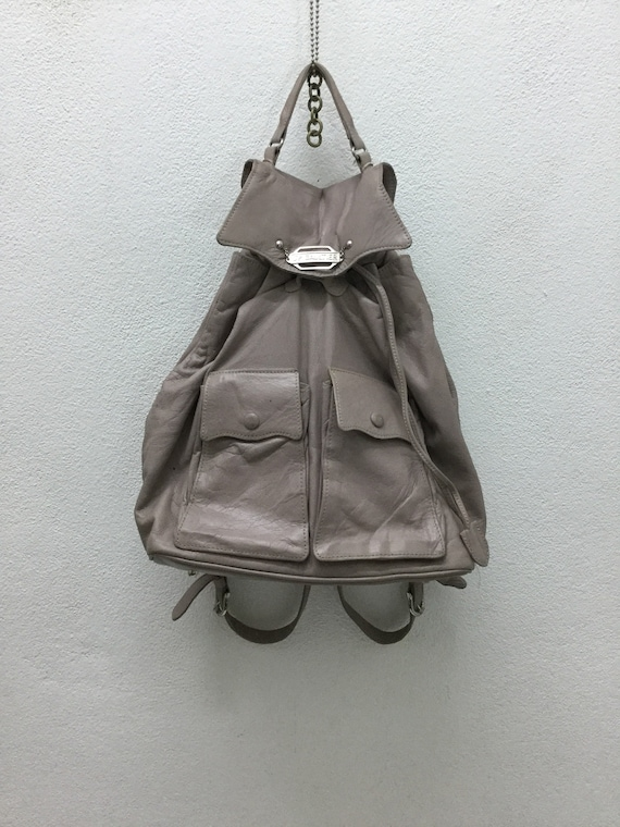 9cd4f1d968 JEAN PAUL GAULTIER Leather Drawstring Backpack