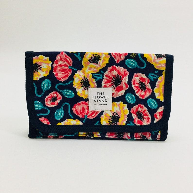 0c8b1ac3f7 KEITA MARUYAMA Floral Make Up Washbag Clutch Cosmetic Bag