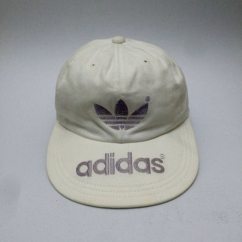 5902ef2053611 True Vintage ADIDAS Trefoil Embroidered Logo Baseball Cap Sz