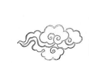 Large Cloud Rubber Stamp | 015083