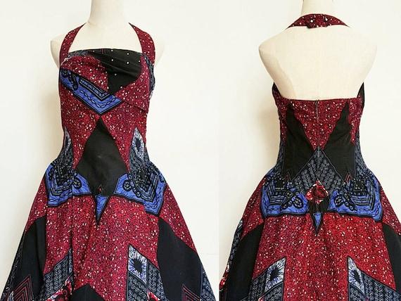 1950s Halter Vintage Dress - image 1