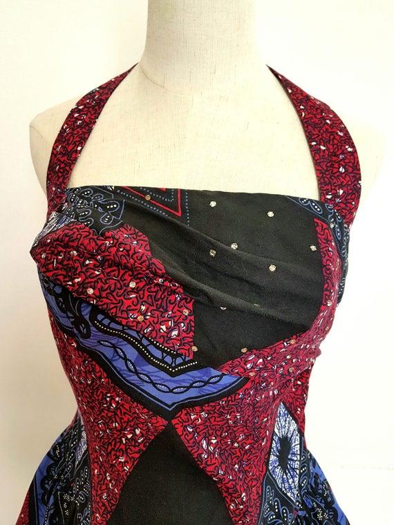 1950s Halter Vintage Dress - image 2