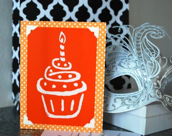 Cute Cupake Birthday Card