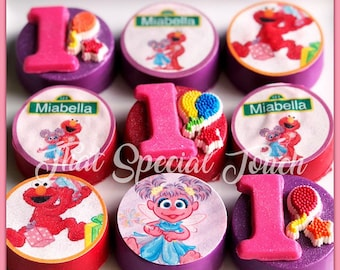 12 Sesame Elmo Abby Chocolate Oreo Party Favors Birthday Street Candy Table First St Dessert Cookietwins