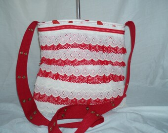 lace ruffle bag
