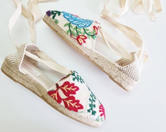 COLORFUL ESPADRILLE MiNi WEDGES - Embroidery Collection - made in Spain - ecologic, sustainable, vegan