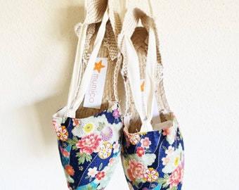 COLORFUL ESPADRILLE FLATS - Japanese Collection - made in Spain - ecologic, sustainable, vegan