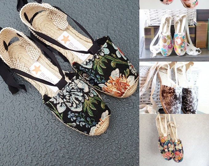 ESPADRILLE FLATS -MUMICO 2021 CoLLECtion - Lace up - made in Spain - ecologic, sustainable, vegan