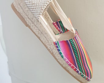 Lace-up ESPADRILLE WEDGES  - organic vegan sustainable - SIZE eu 39 (Us 8.5) - MuMiCo Collection 2021 - Made in Spain