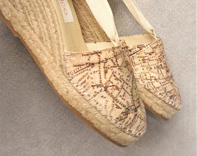 Lace-up ESPADRILLE wedges  - organic vegan sustainable - size EU 36 - US 6 (7cm - 2.72 i) - MuMiCo Collection 2020 - Made in Spain