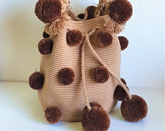 PONPOM CROCHETED BAG - Handmade in Spain