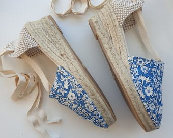 ESPADRILLE MEDIUM WEDGES - organic vegan sustainable - Lace Up (5cm - 1.97i) - MuMiCo Collection 2020 - Made in Spain