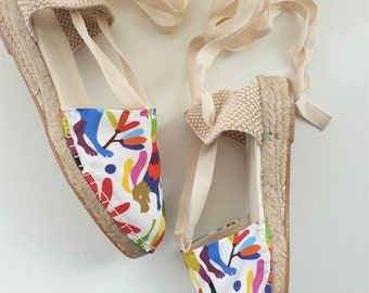 ESPADRILLE WEDGES - organic vegan sustainable - Lace Up (3cm - 1.18i) - MEXICAN Collection - Made in Spain