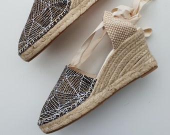 Lace-up espadrille 7cm wedges - AUSTRALIAN COLLECTION - www.mumicospain.com - made in spain