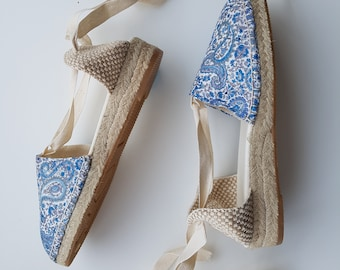 Lacw-up Espadrille Mini Wedges - Liberty Of London Collection - Made In Spain - Www.mumico.es