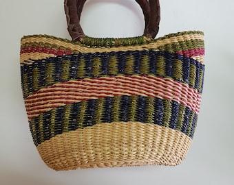 Elephant grass African Shopper - MINI SHOPPER -BOLGA basket - made in Ghana - www.mumicospain.com