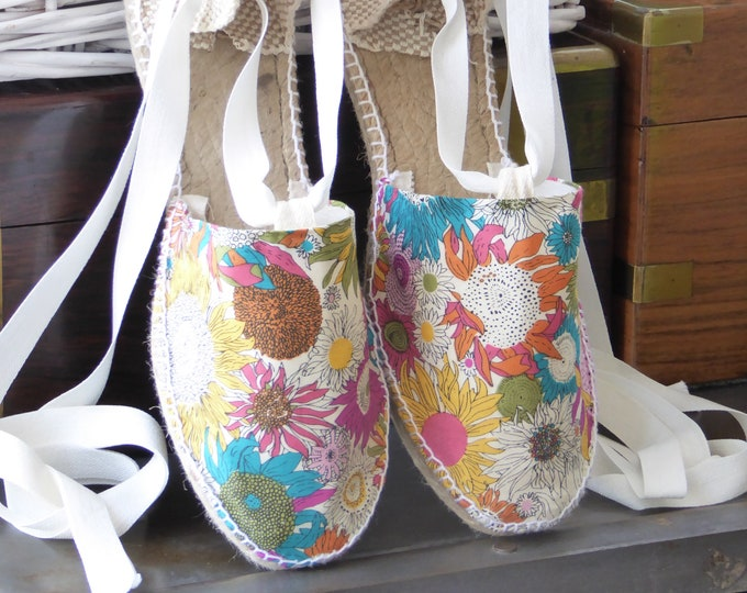 COLORFUL ESPADRILLE FLATS - Liberty of London Collection - made in Spain - ecologic, sustainable, vegan