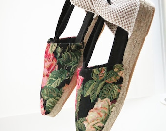 Lace-up espadrille MINIWEDGES - VINTAGE COLLECTION -made in spain - www.mumicospain.com