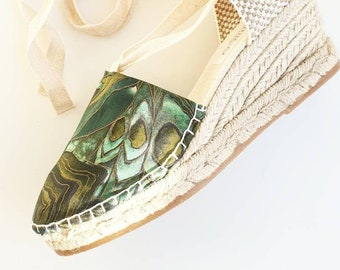 Lace-up espadrille wedges - SAFARI COLLECTION - made in spain - ecologic, vegan, sustainable