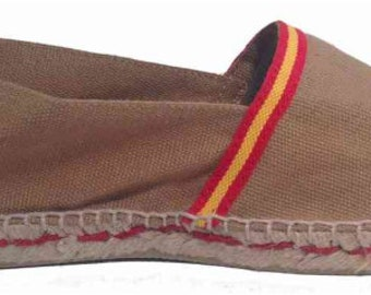 UNISEX ESPADRILLES FLATS - spanish flag - Made in Spain - ecologic, vegan, made in Europe