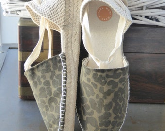 Lace-up Espadrille Mini Wedges - SAFARI&CAMO COLLECTION - Made In Spain - www.mumicospain.com